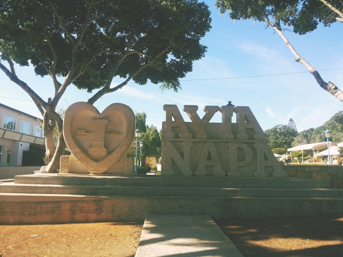 I love Ayia Napa sign