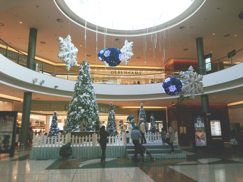 Christmas decoration at the Mall of Cyprus, Nicosia