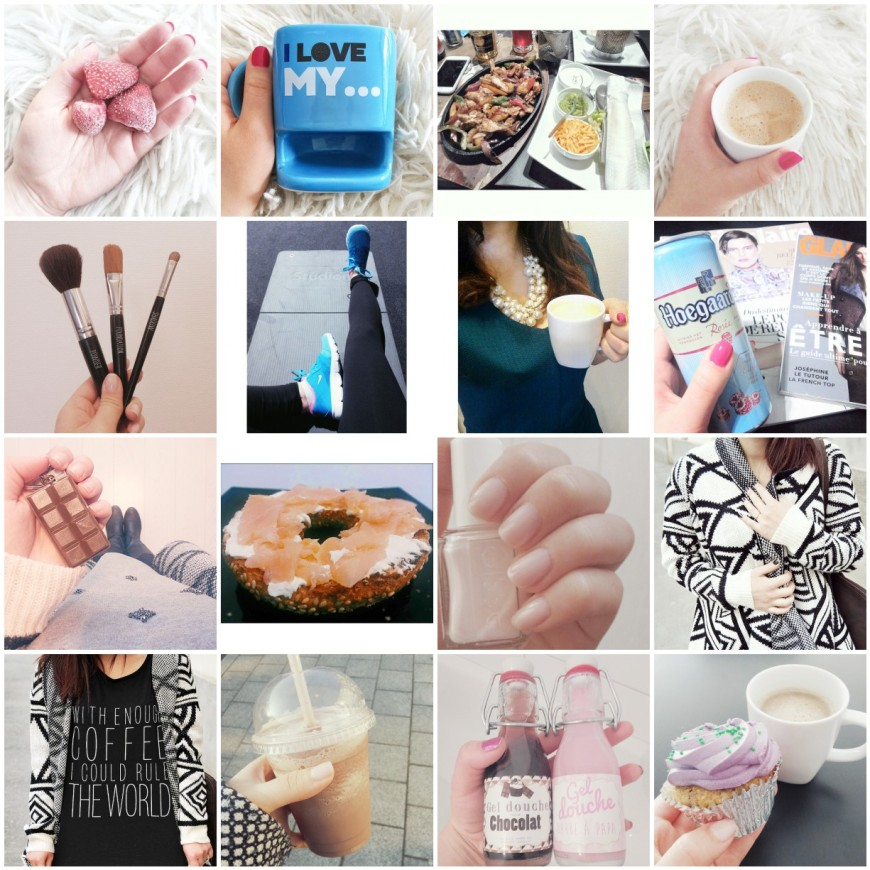 the week on instagram, strawberries, coffee, fashion, cupcke, nails, fitness, gym, fitspiration,