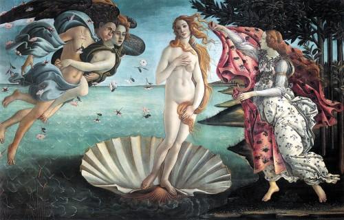 birth of venus, art, florence, botticelli, rennaissance, italy, firenze