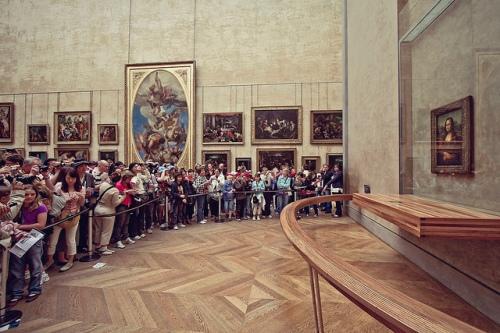 crowd mona lisa, louvre, mona lisa, da vinci, museum, paris, france