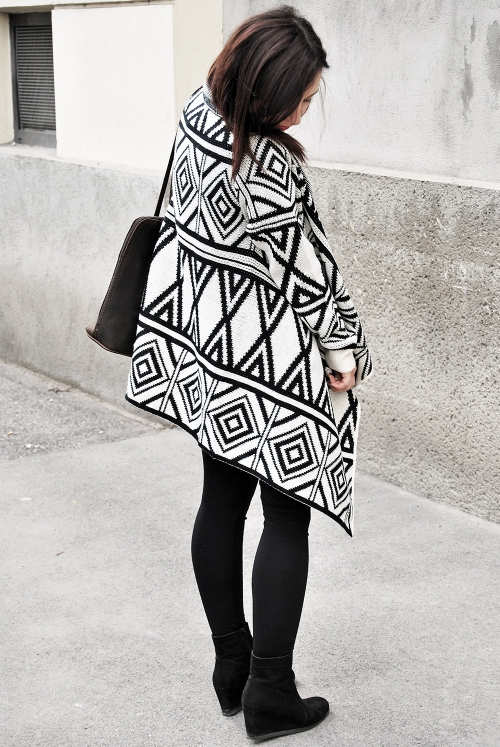 geometri pattern, fashion, outfit, oversized, vienna, forever 21, new yorker