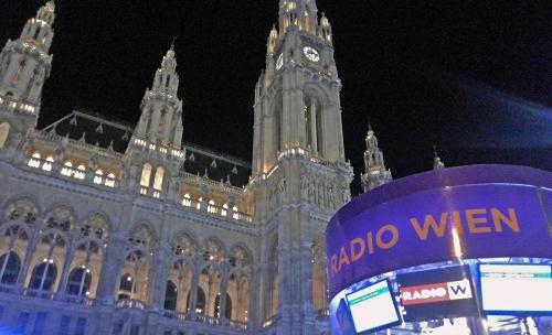 vienna townhall, radio wien, wien, vienna, austria, ice rink