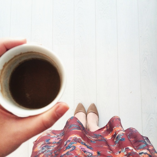 coffee, dress, berschka, coffee love, coffee cup, from where I stand