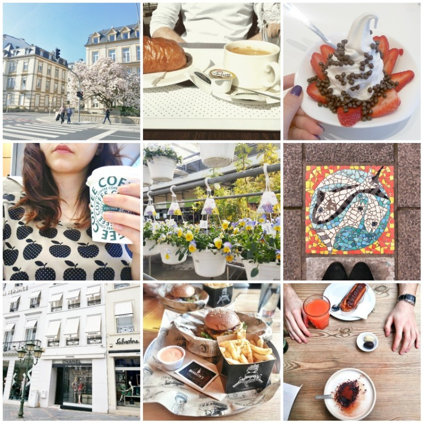 luxembourg, coffee, flowers, bruxelles, easter, yogurt, shopping, manhattns, burger, le pain quotidien