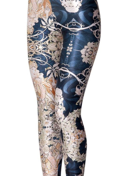 flower yoga pants, flower, yoga leggings, leggings, royal blue, flower pattern