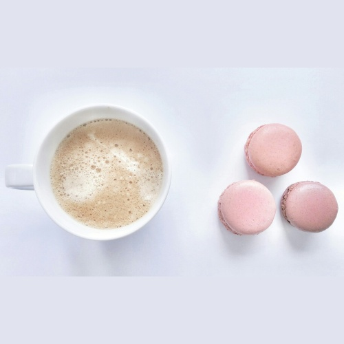 coffee, macarons, laduree, coffee and macarons, i love coffee, coffee cup