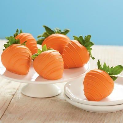 orange strawberries, carrot strawberries, happy easter, easter food