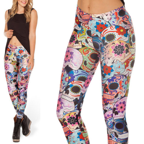 day of the dead yoga leggings, day of the dead yoga pants, day of the dead pattern, skull yoga pants, skull yoga leggings