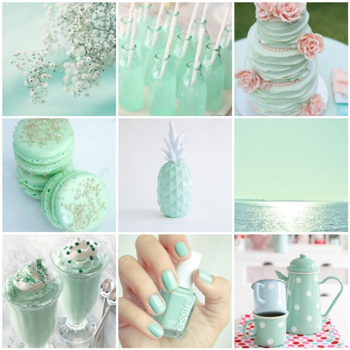 mint inspo, mint, nailpolish, inspiration, mint collage