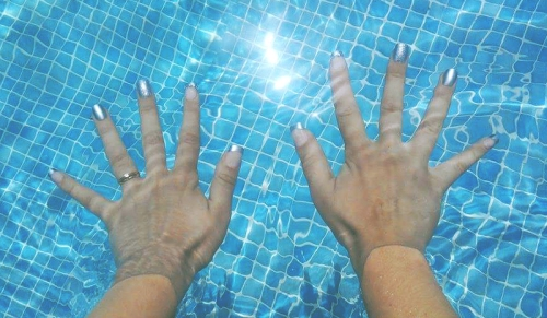 nails, pool, holiday, vacation, nail art
