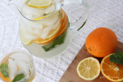 Orange-Basil-Infused-Water, detox water recipe