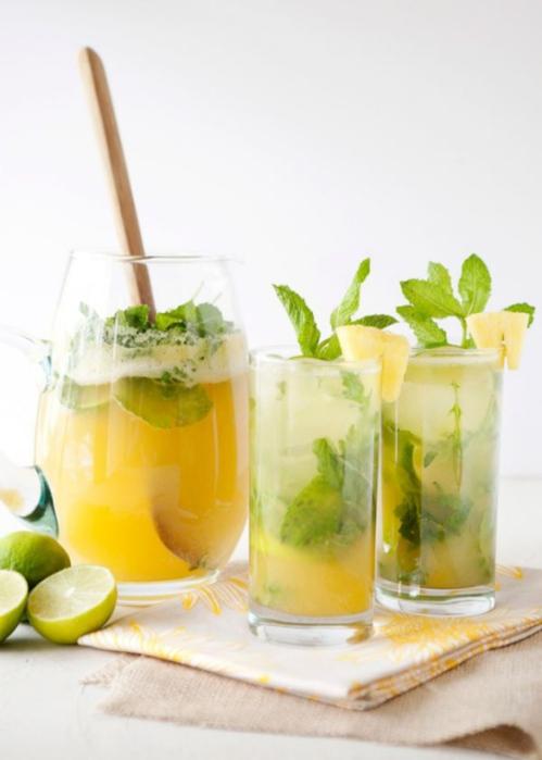pineapple mint water, deto water recipe